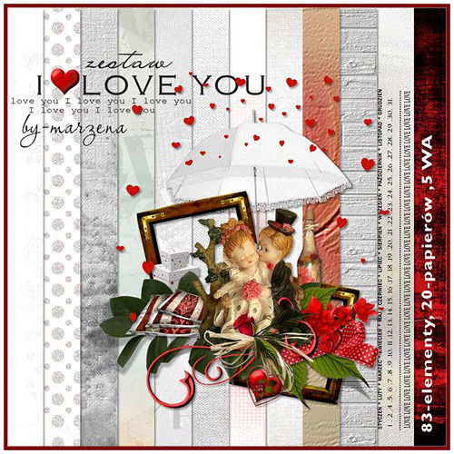 Scrap - I Love You Set PNG and JPG Files
