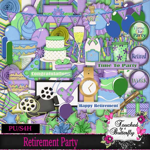 Scrap - Retirement Party PNG and JPG Files
