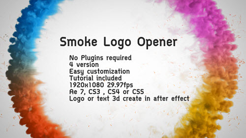 After Effect Project - Smoke Logo Opener