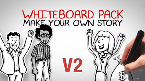 After Effect Project - Whiteboard Pack - Make Your Own Story