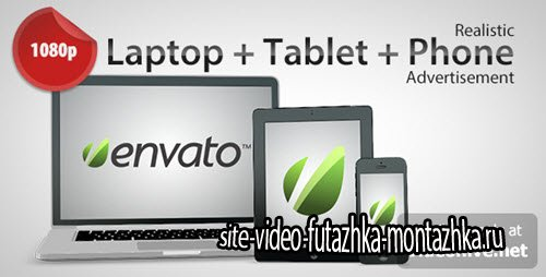 After Effect Project - Laptop + Tablet + Phone Advertisement