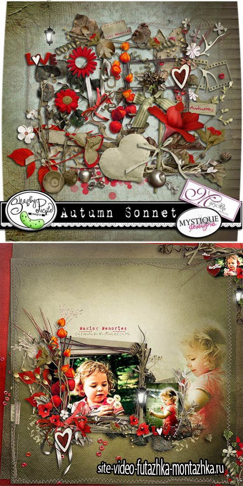 Scrap - Autumn Sonnet JPG and PNG Files