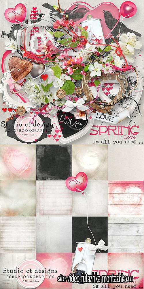 Scrap - Spring Love is all you Need.. PNG and JPG Files
