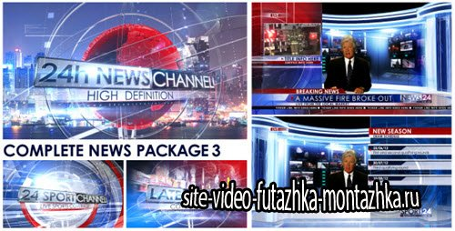 After Effect Project - Broadcast Design - Complete News Package 3