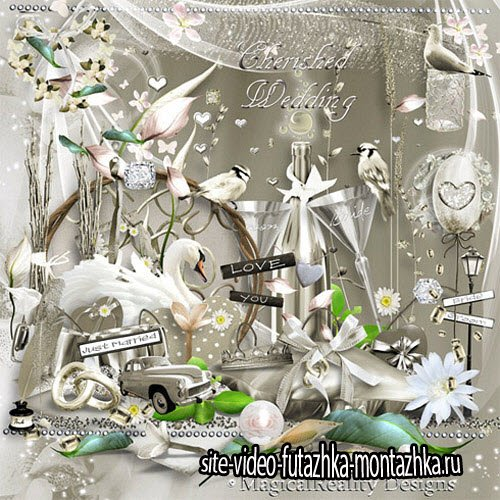 Scrap - Cherished Wedding PNG and JPG Files