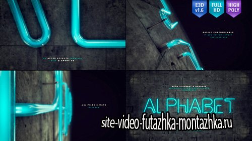 Neon Alphabet & Numbers - Project for After Effects (Videohive)