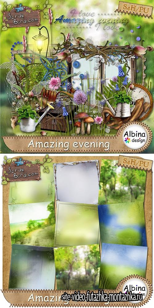 Scrap - Amazing Evening PNG and JPG Files