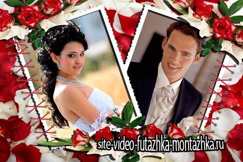 Свадебная рамка для фотошоп