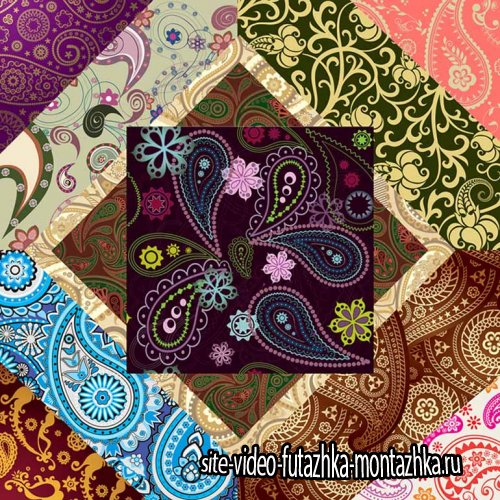 Пейсли или индийский огурец – декоративный орнамент JPG (часть 2-я)