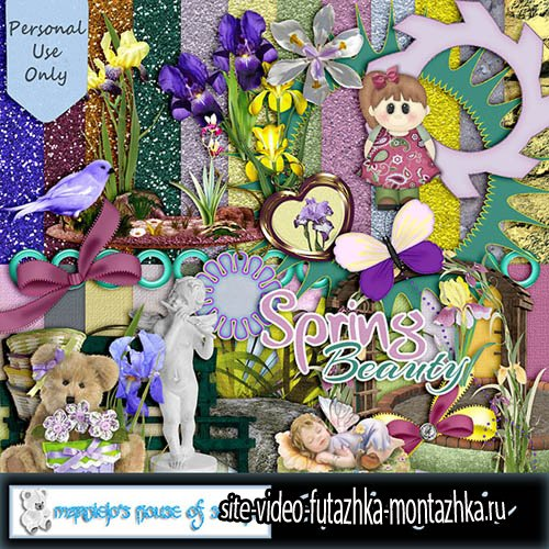 Scrap - Spring Iris PNG and JPG Files