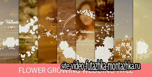 Flower Growing Wedding Title - Project for After Effects (Videohive)