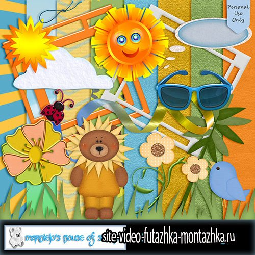 Scrap - Sunny Days PNG and JPG Files