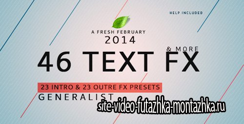 Text Fx Generalist ! - Project for After Effects (Videohive)