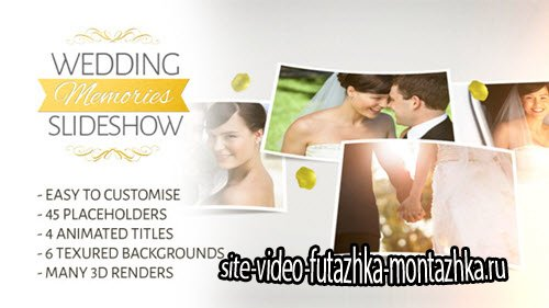 After Effect Project - Wedding Memories Slideshow