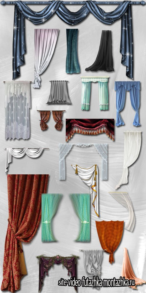 Curtains and Draperies PNG Files