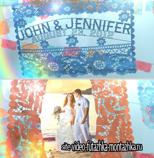 After Effect Project - Wedding Paper Banners