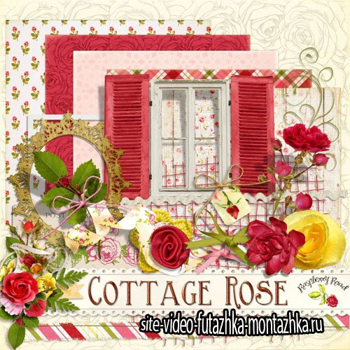 Scrap - Cottage Rose PNG and JPG