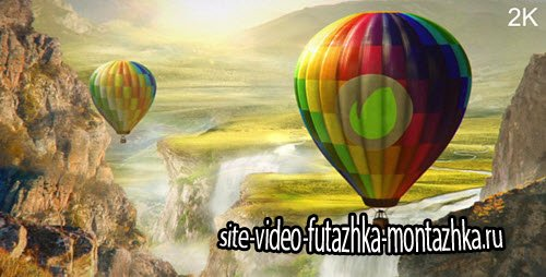 After Effect Project - Colourful World - Hot Air Balloon Logo
