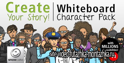 After Effect Project - Create Your Story Whiteboard Character Pack