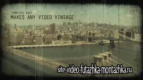 Vintage Video Maker - After Effects Template