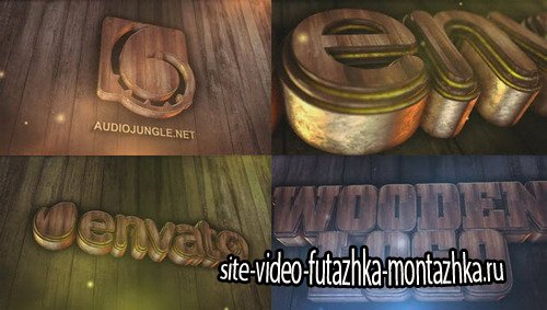 Wooden Logo - Project for After Effects