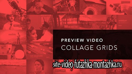 Preview Video Screen Collage Grids - Project for After Effects (Videohive)
