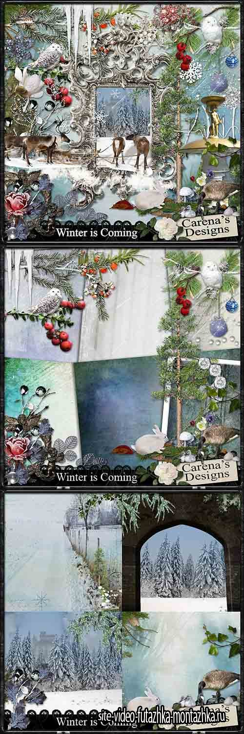 Scrap - Winter is Coming JPG and PNG