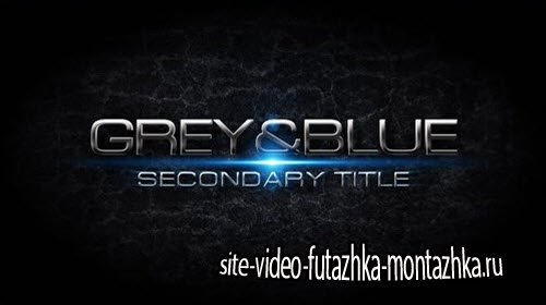 Grey&blue Intro - Pond5 - After Effects Project