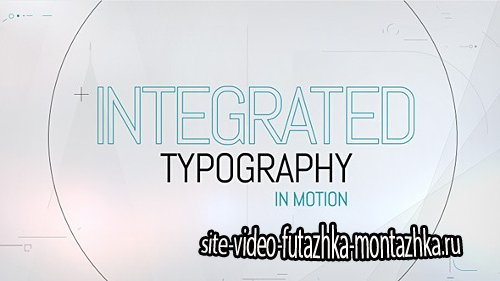 Integrated Typography - Project for After Effects (Videohive)