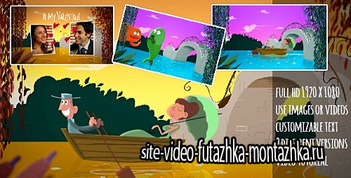 A Fishy Valentine Cartoon - Project for After Effects (Videohive)
