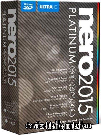 Nero 2015 Platinum 16.0.04300 + ContentPack (2015/ML/RUS)