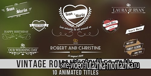 Vintage Romantic Titles Pack - Project for After Effects (Videohive)
