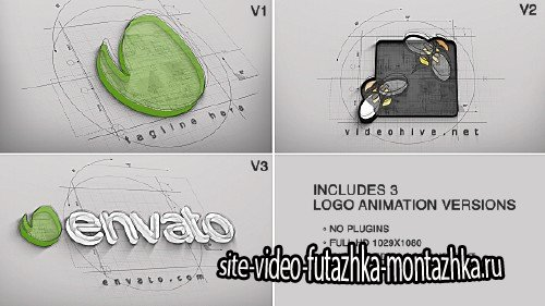 Architect Logo Reveal (3 versions)  - Project for After Effects (Videohive)