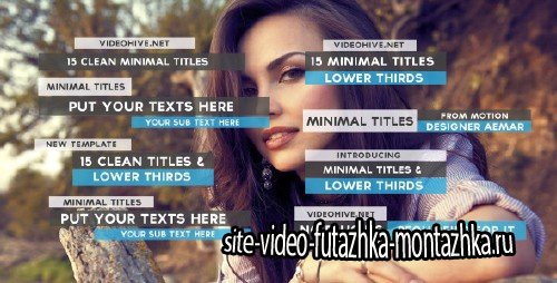 15 Clean Minimal Titles - Project for After Effects (Videohive)