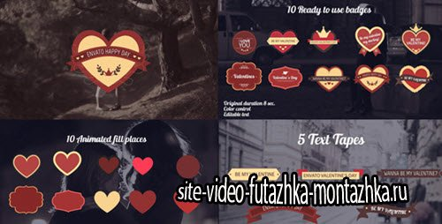 Valentine's Day Badges Package - Project for After Effects (Videohive)