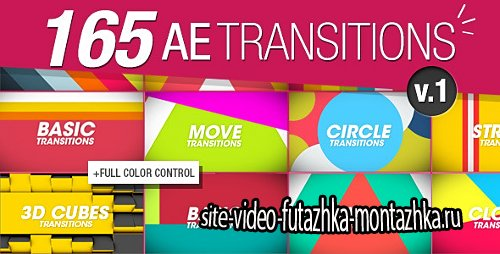 165 Transitions Pack v1 - Project for After Effects (Videohive)
