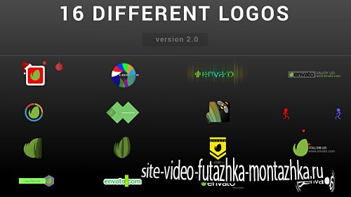 Wow Logo Pack | 16 Different Logo Reveal - Project for After Effects (Videohive)