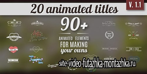 Vintage Romantic Titles Pack 2 - Project for After Effects (Videohive)