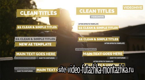 11 Minimal Titles - Project for After Effects (Videohive)