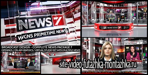 Broadcast Design - Complete News Package 7 - Project for After Effects (Videohive)