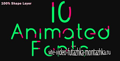 10 Animated Fonts - Project for After Effects (Videohive)