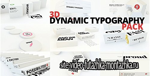 3D Dynamic Typography Pack - Project for After Effects (Videohive)