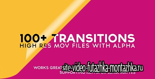 100+ Alpha Transitions Pack - Motion Graphics (Videohive)