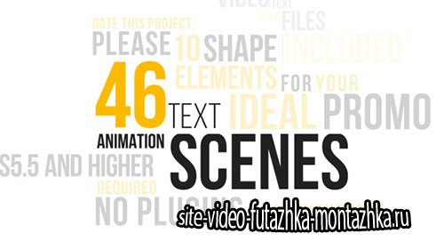 46 Dynamic Text Animations Pack - Project for After Effects (Videohive)