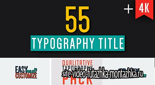55 Qualitative Typography - Project for After Effects (Videohive)