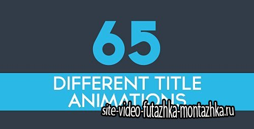 65 Minimal Title Animations - Project for After Effects (Videohive)