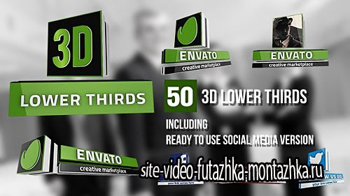 3D Lower Thirds (50 Items) - Project for After Effects (Videohive)