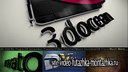 3D Logo Title Intro Animation Kit - Project for After Effects (Videohive)