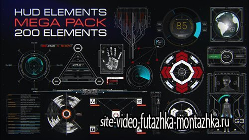 HUD Elements Mega Pack - Project for After Effects (Videohive)