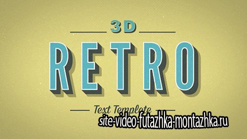 3D Retro Kinetic Typography - Project for After Effects (Videohive)